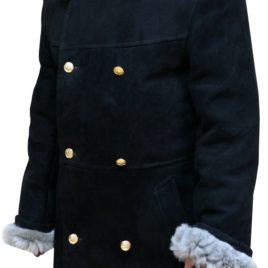 Пальто мужское нагольное из шубной овчины для личного состава милиции