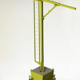 Мобильная вспомогательная металлоконструкция для крепления стационарных анкерных устройств, с анкерной точкой РА1 (ВМ ТехноМАС 003 Mobile)