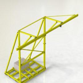 Стационарная вспомогательная металлоконструкция для крепления стационарных анкерных устройств, с подвижной анкерной точкой РА2 (ВМ ТехноМАС 004 Hardline)