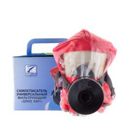 Самоспасатель фильтрующий Бриз-3401 ГДЗК в картонной коробке