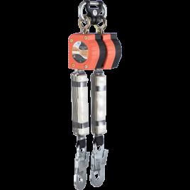Двухплечевое средство защиты втягивающего типа «НВ-02» с карабином «Стальной Монтажный малый»