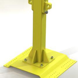 Столбик с пластиной (Post4P_01) для крепления на профильной кровле (ВМ ТехноМАС_Post4)